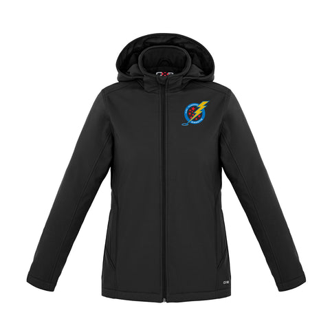 A/P Ringette Insulated Black Jacket with Removable Hood