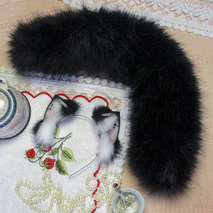 ***TAIL ONLY***MADE TO ORDER*** black kitten