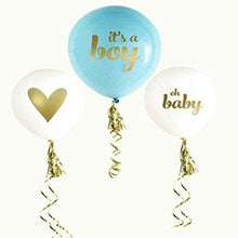 10PCS Fashion Party Decor Gifts Inflatable Boy And Girl Baby Shower Latex Balloons - Baby Reveal Party