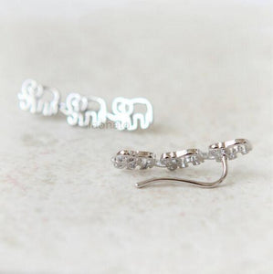 Daisies Elephant Ear Climber Pin Earrings For Women Animal Jewelry Stud Earrings - Baby Reveal Party