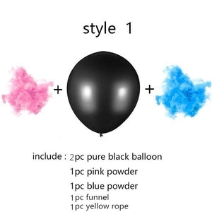 "36"" (2) Black Balloons Pink or Blue Gender Reveal Two Darts Challenge - Baby Reveal Party"
