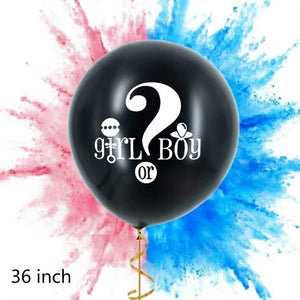 36inch Gender Reveal Party Balloon (Boy or Girl - Pink or Blue - She or He) - Baby Reveal Party