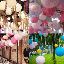 Multicolor Round Paper Lanterns - Baby Reveal Party