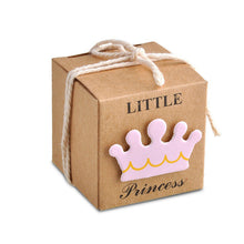 Prince & Princess Label Paper Candy Boxes Baby Gender Reveal Party Favor Box - Baby Reveal Party