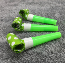 Polka Dot Party Whistles Noisemaker Decoration (6pcs - 7 Colors) - Baby Reveal Party