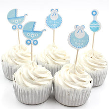 Assorted Baby-Themed Cupcake Toppers (6 pcs) - Baby Reveal Party
