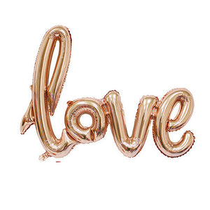 """Love"" Balloons (Various Colors) - Baby Reveal Party"