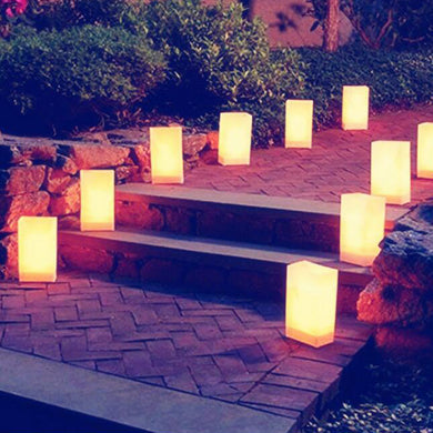 Outdoor Paper Lantern Candle Holder (10pcs) - Baby Reveal Party