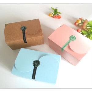 Paper Gift Box for Party Favors, Jewelry, Candy or Cookies (10 pieces - 3 avail colors) - Baby Reveal Party