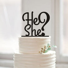 """He or She?"" Matte Cake Topper - Baby Reveal Party"