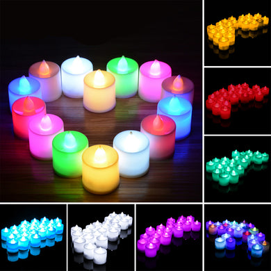 LED Tealight Candles (24 Pcs) - Baby Reveal Party