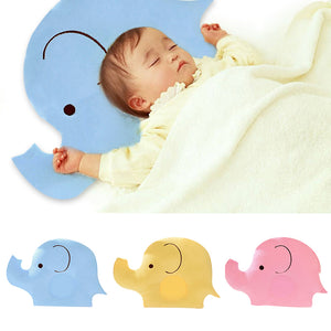 Baby Shaping Pillow Soft Cotton Lovely Cartoon Sleep Head Positioner Anti-rollover Elephant Head Pillow Protection of Newborn - Baby Reveal Party
