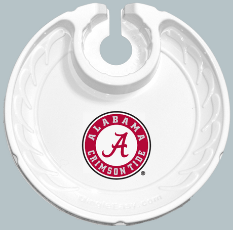 Crimson Tide Party Plates with Built-In Stemware and drinkware Holders