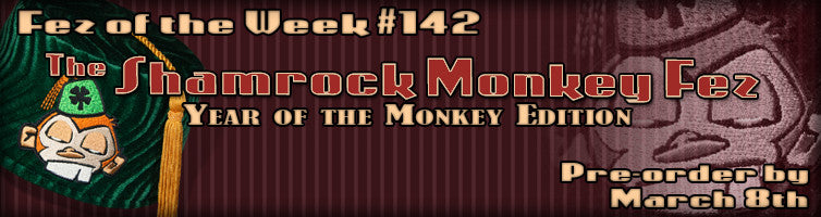 #142 The Shamrock Monkey Fez