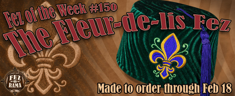 #150 The Fleur-de-lis on Green