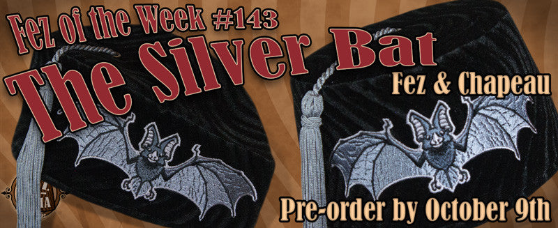 #144 ~ The Silver Bat Fez and Chapeau