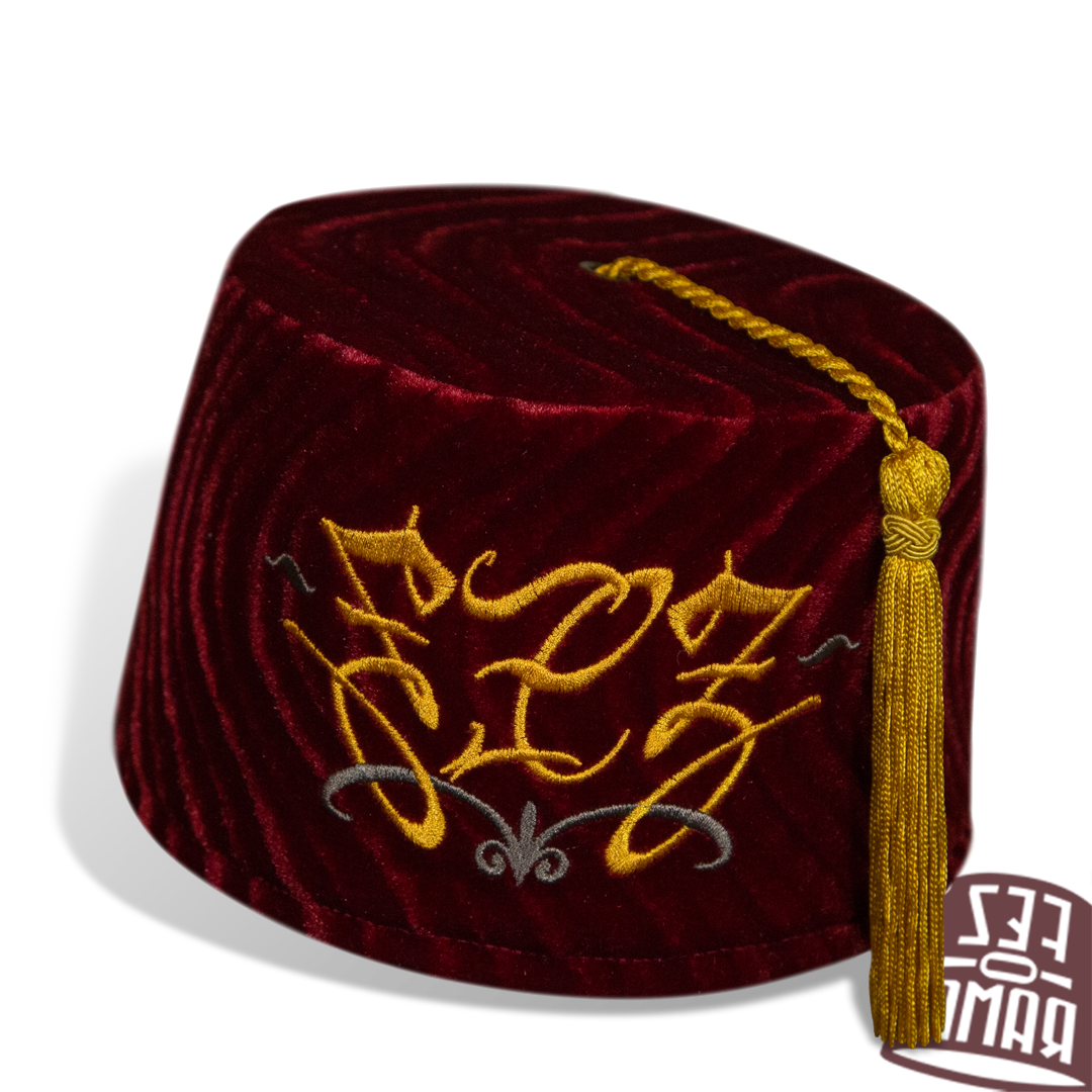 reflected view of the Ambigram Fez