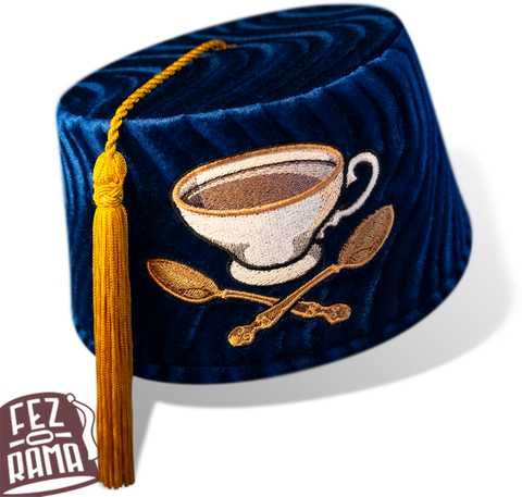 Blue Tea Cup and Cross Spoons Fez