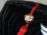 Bronze D20 Tassel Pin