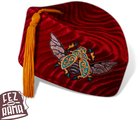 Red Scarab Chapeau