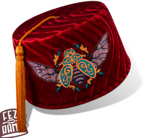 Red Scarab Fez