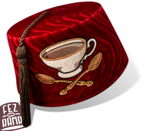 Tea Cup and Cross Spoons Fez