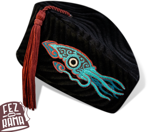 Teal Squid Chapeau