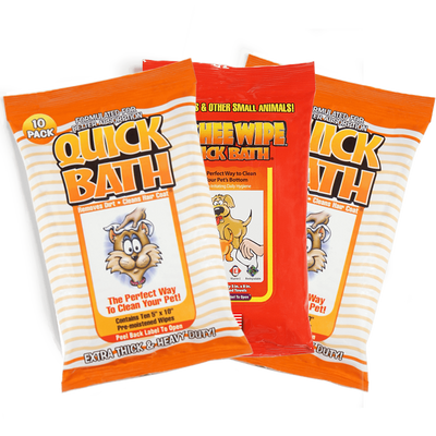 Quick Bath Wipes Cat Bundle (3 Packs) + FREE SHIPPING!