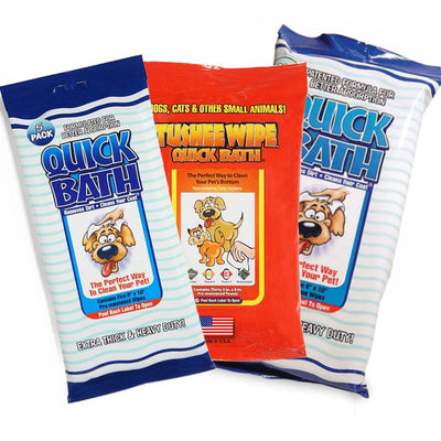Quick Bath Wipes Dog Bundle (3 Packs) + FREE SHIPPING!