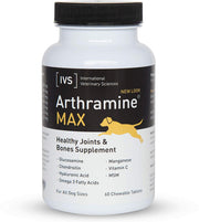 Arthramine® MAX Joint Care MSM + OMEGA 3 + Vitamin C Chewable Tablet For Dogs [product_type - IVS Pets International Veterinary Sciences