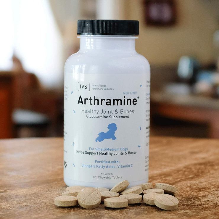 Arthramine® Joint Care Chewable Tablet for Small Dogs [product_type - IVS Pets International Veterinary Sciences data-image-id=