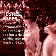 Quick Bath® Tushee Wipes Removes Odor & Bacteria [product_type - IVS Pets International Veterinary Sciences