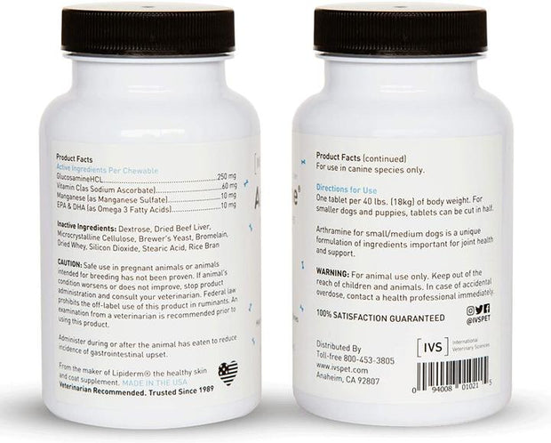 Chewable Tablet For Small Dogs Arthramine  data-image-id=