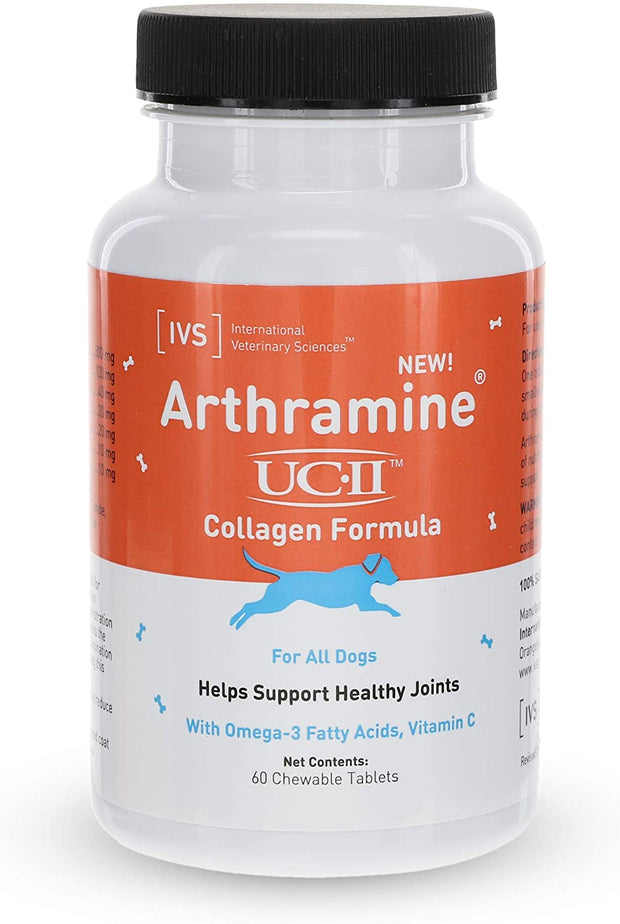 Arthramine® UC-II Collagen Joint Care Chewable Tablet For Dogs [product_type - IVS Pets International Veterinary Sciences data-image-id=