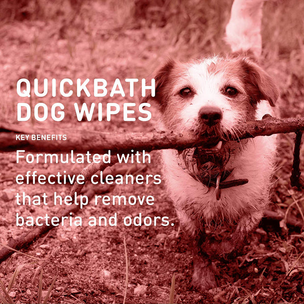 QuickBath® Dog Towelettes Removes Odor & Bacteria [product_type - IVS Pets International Veterinary Sciences data-image-id=