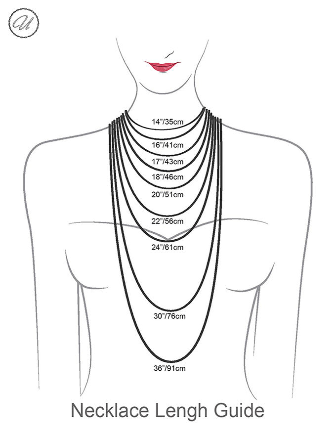 necklace length measurement guide