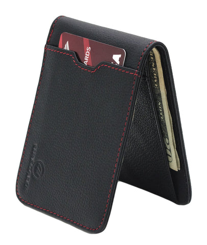 Men's Leather Wallet, Slim Bifold with RFID Protection for Cards and Cash Genuine Leather Wallet,  - UREGALO