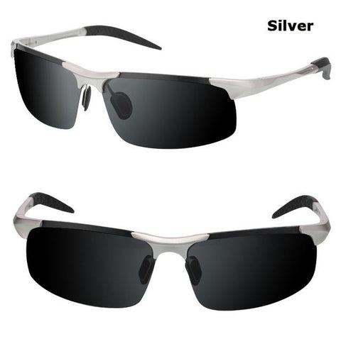 Men's Polarized UV400 Sport Sunglasses - Silver,  - UREGALO