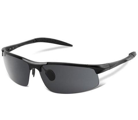 Men's Polarized UV400 Sport Sunglasses - Black, Sunglasses - Men - UREGALO