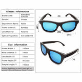 Natural Wood Frame Polarized Lens Sunglasses - Unisex,  - UREGALO