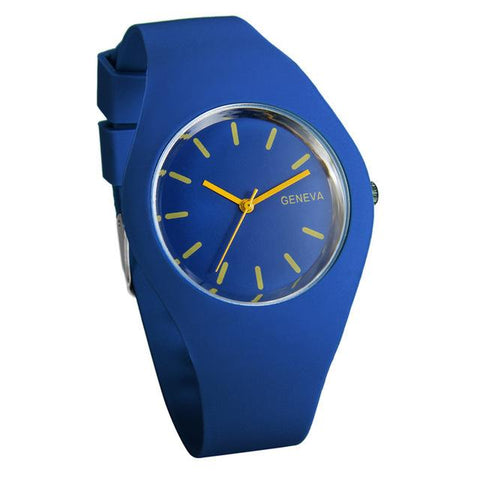 Silicon Strap Quartz Watch for Women - Blue, Watch - Women - UREGALO