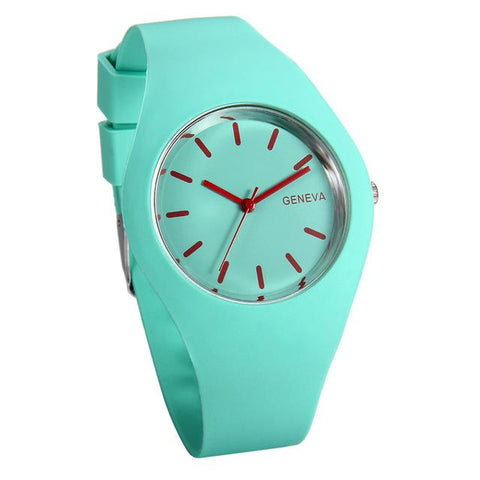 Silicon Strap Quartz Watch for Women - Turquoise, Watch - Women - UREGALO