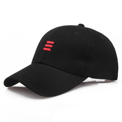 Three Dash Embroidery Baseball Cap - Black, Cap - Unisex - UREGALO
