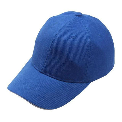 Solid Blue Adjustable Baseball Cap - Unisex,  - UREGALO