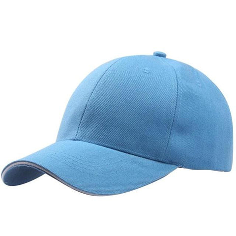 Solid Skyblue Adjustable Baseball Cap - Unisex, Cap - Unisex - UREGALO