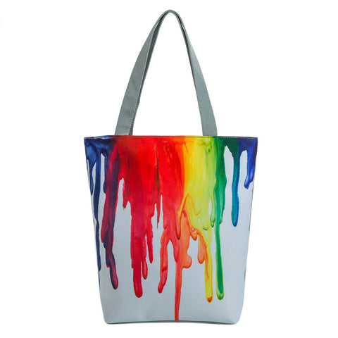 Spill Paint Canvas Tote Bag,  - UREGALO