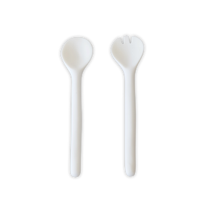 Tina Frey Large Salad Servers, White