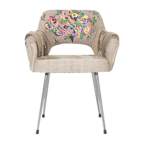 Bokja Pixelated Shader Armchair, Multicolored Embroidered Fabric