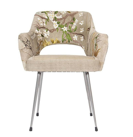 Bokja Primavera Armchair, Multicolored Embroidered Fabric