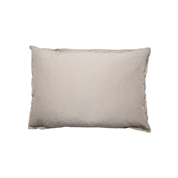 Bokja Embroidered Golden Wheat Cushion